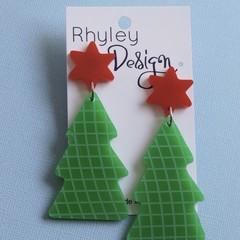 Statement Christmas Tree Earrings