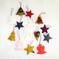 12 Felted Christmas Decorations And Angel Complimentary Christmas Gift #37