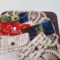Fabric Mini Purse, Lip Balm, Lipstick, Earplugs, Key BUY ONE GET 2