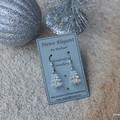 Swarovski Crystal Xmas Trees, Sterling Silver, earring
