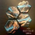 Set of 4 Resin Art Drink Coasters