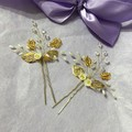 Gold Hair pins-set of 2