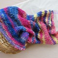 hand knitted chunky layers