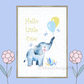 Hello Little One Elephant Printable