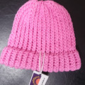 BEANIE - Child's 100% COTTON Loom Knitted Pink Beanie