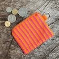 Small Coin PursePink & Orange Stripe