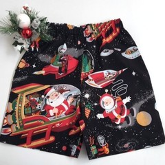 "Sizes 3 and 4 ""Santa in Space"" (Black)"