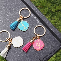 Gold Keyrings - Teal, Pink, Blue, White & Black. Teacher Gift Xmas Christmas