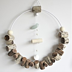 driftwood wreath with detail