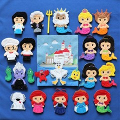The Little Mermaid Finger Puppets and Quiet Book Page