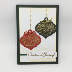 Christmas Card - Christmas Baubles
