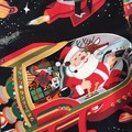 "Sizes 3, 4 and 5 ""Santa in Space"" (Black)"