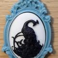 Peacock Cameo Necklace Halloween
