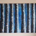 Tree Line By The Blue Lagoon original acrylic painting 90cm (W) x 60cm (H)
