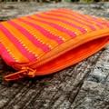 Small Coin PursePink & Orange Stripe