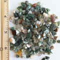 Natural Indian Agate gemstone bar Necklace ( Green Brown White Healing Stone )