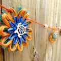 Jute Twine Raffia Paper Hanging Garland Ocean Coral Beach Coastal Decoration