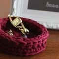 Crochet baskets - Burgandy  - various sizes