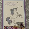 kids Birthday Handmade Card - unicorn card - FREE POST