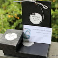 Swarovski Crystal Presents, Blue, Sterling Silver, earring