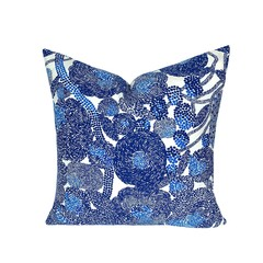 Scandinavian Modern Blue Pillow.