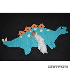 Large Dinosaur Crochet floor rug Free postage