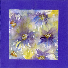 "ORIGINAL WATERCOLOUR CARD  ""Blooming"" by Heather Holland"