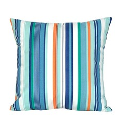 Outdoor Striped Chair Cushion. Pool Decor.