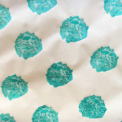 Handprinted wrapping paper | scrapbooking, Christmas gift wrap, coastal