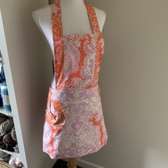 Pink and Orange low waisted Retro vintage style apron Free Postage Amy Butler