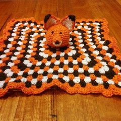 Handmade Crocheted Fox Blankey for Baby/Toddler