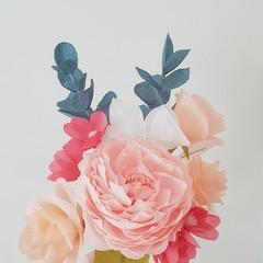Spring Bouquet || crepe paper flowers, home decor, flower bouquets.