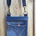 Upcycled Denim Cross Body Bag