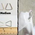 Minimal Long & Short Triangle wire earrings ( Huggie Open hoop )
