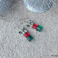 Festive Swarovski Crystal Presents, Sterling Silver, earring
