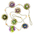 Jute Twine Paper Raffia Flower Hanging Garland Boho Bohemian Home Decoration
