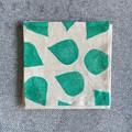 Four linen cocktail napkins | block printed, coaster, eco-friendly