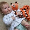 Handmade Crocheted Fox Blankey for Baby/Toddler