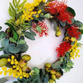 Colourful Australian Native Flower Wreath Christmas Wreath (35 cms wide)