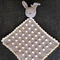 Crocheted Bunny Bobble Blankey for Baby/Toddler
