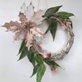 Pink Christmas Wreath (35cms) - Gum Nut & Eucalyptus - Silver Native Wreath