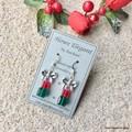 Festive Swarovski Crystal Presents, Sterling Silver, earring