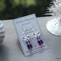 Swarovski Crystal Presents, Purple, Sterling Silver, earring