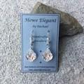 Swarovski baroque crystals, Sterling Silver, dangle earring