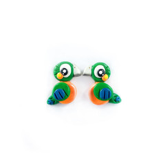 Super Studs - Harlequin Macaw Earrings