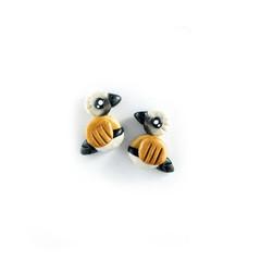 Super Studs - Australian Black-Throated Finch Earrings