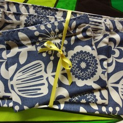 Handy Bags- Modern Blue and White Floral Print