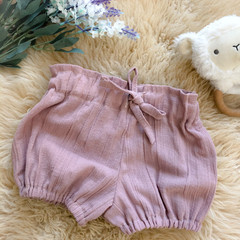 BLUSH LINEN bloomer shorts, sz 00