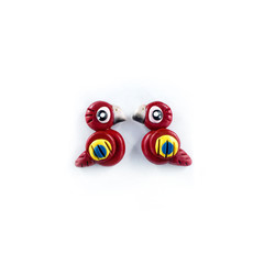 Super Studs - Scarlet Macaw Earrings