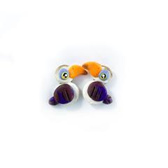 Super Studs - Red-Billed Hornbill Earrings